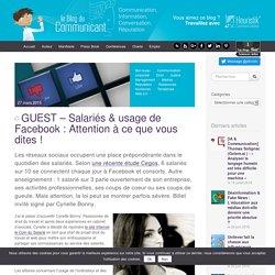 Salariés & usage de Facebook : Attention à ce que vous dites