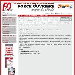 Les salariés de GO SPORT en ont ras-le-bol ! - Fédération des Employés et Cadres - Force Ouvrière - www.fecfo.fr