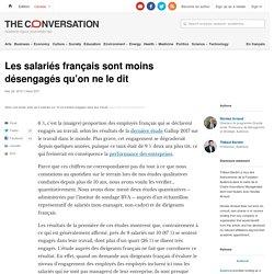 Lessalariés français sont moins désengagés qu'on neledit