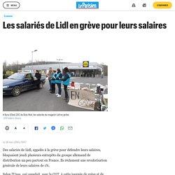 Les salariés de Lidl en grève pour leurs salaires
