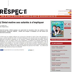 L'Oréal motive ses salariés à s'impliquer