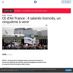 CE d'Air France : 4 salariés licenciés, un cinquième à venir