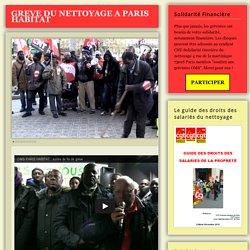 GREVE DES SALARIES DU NETTOYAGE DE PARIS HABITAT - Union Locale CGT Paris 11
