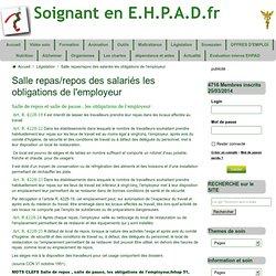 Droit du travail professionnel pearltrees for Obligation salle de repos au travail