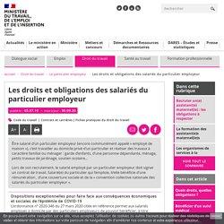 Droits des salariés du particulier employeur : ce que dit la loi