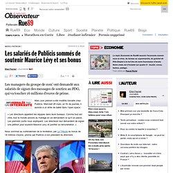 Bonus de Maurice Lévy: Publicis demande des messages de soutien aux salariés | Rue89 Eco