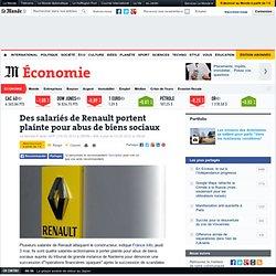 Des salariés de Renault portent plainte pour abus de biens sociaux