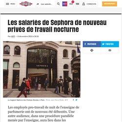 Les salariés de Sephora de nouveau privés de travail nocturne