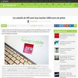 Les salariés de SFR vont tous toucher 2000 euros de prime