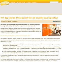 91% des salariés d'Orange sont fiers de travailler pour l'opérateur