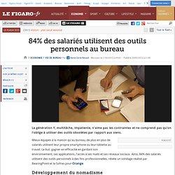 Vie de bureau : 84% des salariés utilisent des outils personnels au bureau
