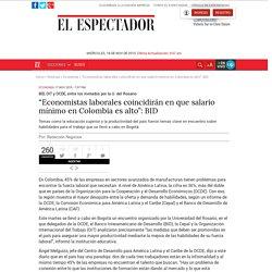 Salario mínimo en Colombia según en BID