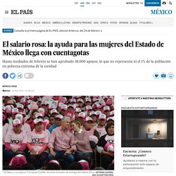El salario rosa: ayuda para las mujeres del Estado de México - El País 16-02-2018