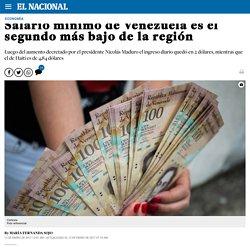 Salario mínimo de Venezuela es el segundo más bajo de la región