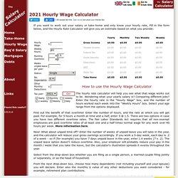 The Salary Calculator - Hourly Wage Tax Calculator