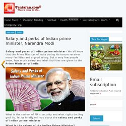 salary and perks of Indian prime minister