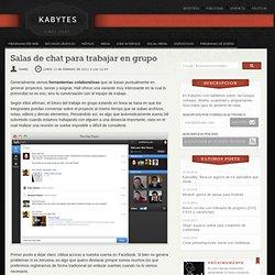Salas de chat para trabajar en grupo