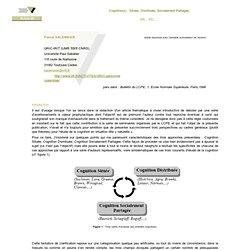 Salembier - cognition(s)