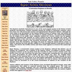 Regimen Sanitatis Salernitanum - A Salernitan Regimen of Health