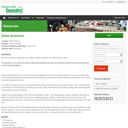 Sales Assistant - Dunelm Careers