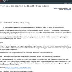 Top 5 Sales Blind Spots in the IT and Software Industry