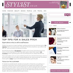 Top Tips For A Good Sales Pitch - Careers