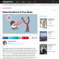 Sales Excellence In Five Steps