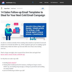 14 Sales Follow-up Email Templates to Steal for Your Next Cold Email