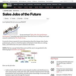 Sales Jobs of the Future | BNET