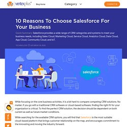 10 Reasons to Choose Salesforce for Your Business - VertexPlus Blog