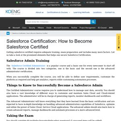 Salesforce Certification: How to Become Salesforce Certified