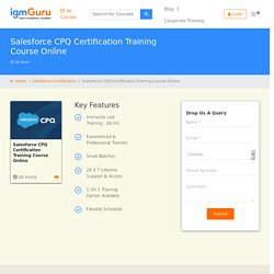 Salesforce CPQ Certification Course