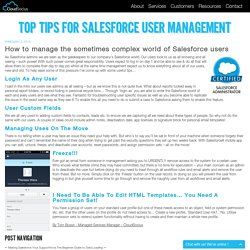 Top Tips For Salesforce User Management