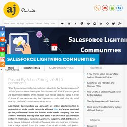 SALESFORCE LIGHTNING COMMUNITIES