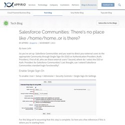 Salesforce Communities: There's no place like /home/home…or is there?