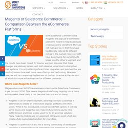 Magento or Salesforce Commerce – Comparison Between the eCommerce Platforms