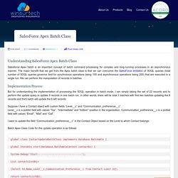 SalesForce Apex Batch Class Concept - Winsurtech Blog