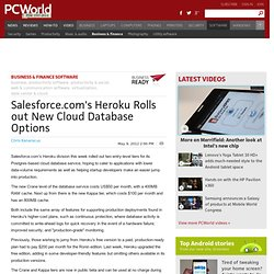Salesforce.com's Heroku Rolls out New Cloud Database Options