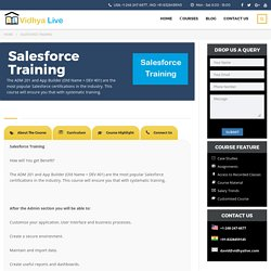 Salesforce Developer Training Online