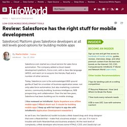 Review: Salesforce has the right stuff for mobile development