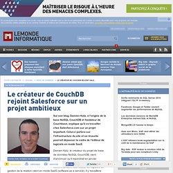 Le créateur de CouchDB rejoint Salesforce sur un projet ambitieux