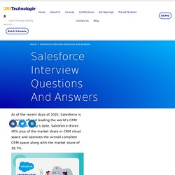 Top 50 Salesforce Interview Questiosn and Answers
