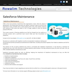 Salesforce Maintenance