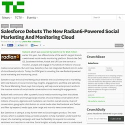 Salesforce Debuts The New Radian6-Powered Social Marketing And Monitoring...
