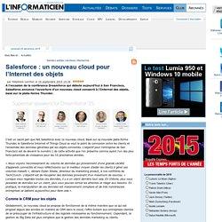 Salesforce : un nouveau cloud pour l'Internet des objets