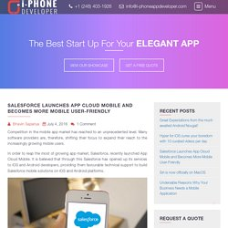Salesforce Launches App Cloud Mobile and Becomes More Mobile User-Friendly - I-PhoneAppDeveloper