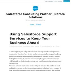 Using Salesforce Support Services to Keep Your Business Ahead