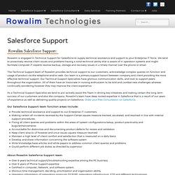 Salesforce Support, Salesforce Support Specialist
