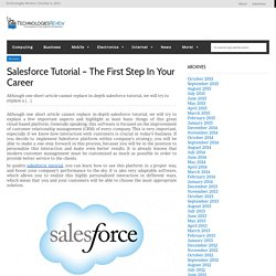 Improve Your Salesforce Knowledge With A Good Tutorial