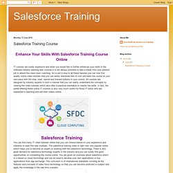 Learn Salesforce Online Training Course
